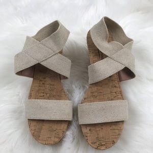 Lucky Brand Clog Sandals SZ 8.5 Wedge Cream NWOT